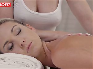 LETSDOEIT - Czech nubile Gets All humid On massage Table