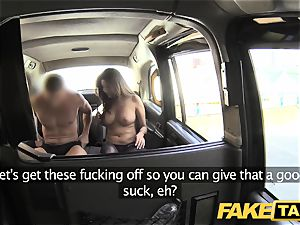 fake taxi fat facial spunk shot for brown-haired in stocking