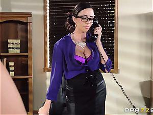 Ariella Ferrera takes a dosage from Danica Dillans man