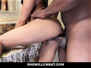 SheWillCheat - hotwife wife nails big black cock in douche