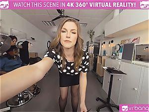 VRBangers.com Hairdresser Ella boinked rock-hard and facial cumshot