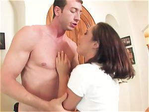 nasty whorish biotch Kristina Rose takes a fat lollipop deep in her jaws