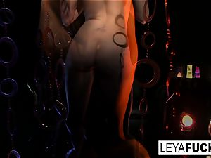 Disco honey Leya gets an rectal tearing up and creampie