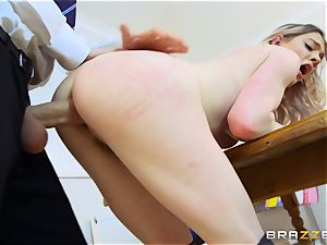cool schoolgirl Carly Rae gets torn up by a huge dicked educator