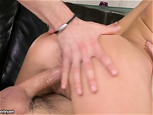 Aletta Ocean cum on face after a juicy 3some