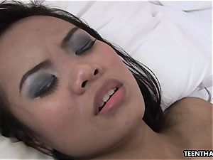 Thai honey with a tight ass getting freaky with her stud