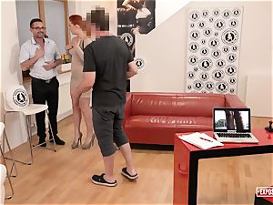 unveiled audition - ginger-haired Eva Berger unloading audition