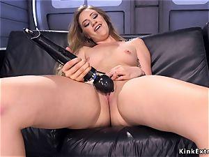 blondie hottie with curved donk pulverizes machine