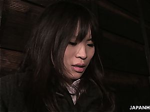 bizarre chinese nubile degustating pecker for the first time