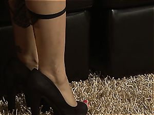 raunchy Latina Vicki torn up by the fireplace