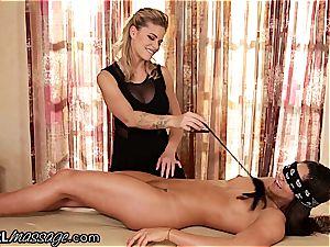 exquisite babe Jessa Rhodes teases, tickles and licks virginal Aspen