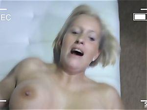 SEXTAPE GERMANY - Mature German rookie romps on web cam