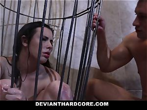 DeviantHardcore - Casey gets a mouth-watering fetish bang