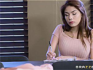Lena Paul bangs college girl during exam