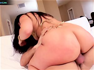 uber-sexy sugary Lopez rounded culo is all over
