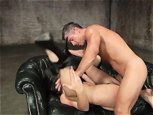 Dani Daniels gets splooged with humungous manhood splooge