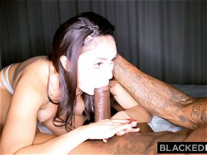 BLACKEDRAW nasty dark-haired wifey likes ebony cock in her hotel apartment