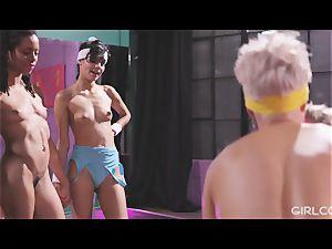 GIRLCORE Aerobics Class Leads to sapphic splashing orgy