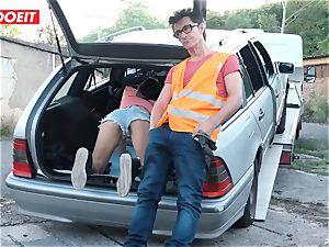 LETSDOEIT - teen bangs senior fellow For Free Car Repair