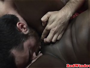 ebony euro prostitute being pussyeaten
