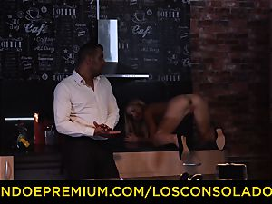 LOS CONSOLADORES - Hungarian blondie gets pummeled point of view