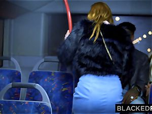 BLACKEDRAW 2 sweethearts pulverize large bbc On Bus!