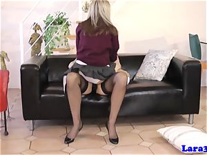 brit cougar spanked and fingered by nubile