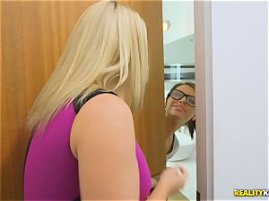 Chad almost caught with his spunk-pump stuck in Adriana Chechik