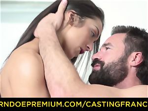 casting FRANCAIS - first-timer sweetie banged and cum covered