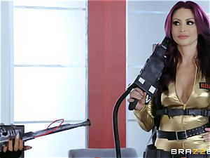 Nikki Benz and Romi Rain getting pounded