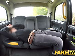 fake taxi kinky red-haired bombshell in messy smash