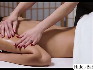 steamy masseur Darcie Dolce rubdown Victoria chubby so romantic and licks her cunny