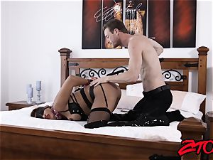 slave cougar Mercedes Carrera rammed with large fuck-stick