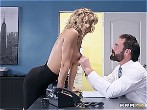 impressively super-fucking-hot session with a buxom blondie secretary