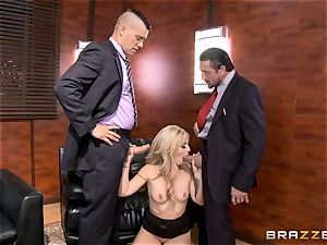 very first double intrusion for Madelyn Monroe