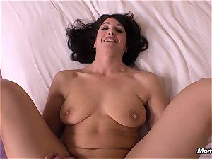 guiltless black-haired milf cuckold internal ejaculation dream