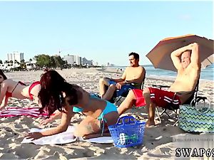 Step mommy tongues patron crony s daughters donk and nearly caught Beach Bait And change