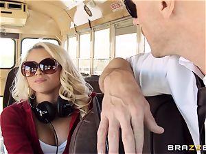 nasty hitchhiker Marsha May humping hot bus driver
