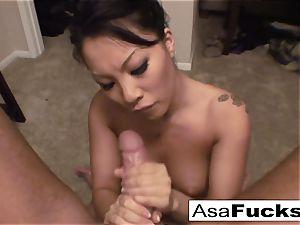 Asa gives an amazing deep facehole oral job