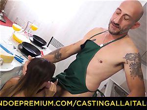 audition ALLA ITALIANA - sizzling Italian minx gets deep rectal