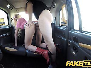 fake cab blonde wonderful sweetie does backseat rectal fucky-fucky