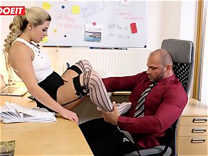 Stepdaughter joins father in plowing the office assistant