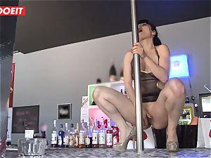 LETSDOEIT - French Stripper mega-slut gang-fucked at Work