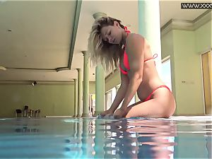 notorious Mary Kalisy is swimming bare for XXXWATER