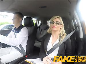fake Driving college Learners nerves calmed by pounding