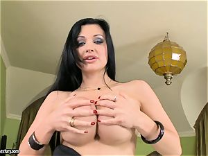 stellar breasted Aletta Ocean exposes her giant mammories taunting everyone's attention