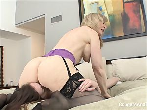 cougar Nina gives her stepdaughter a going away introduce
