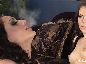 Smoking girl/girl joy with Charley and stunner