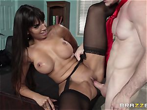 mexican secretary Mercedes Carrera seduced her new chief in the office