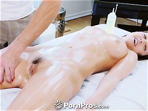 PornPros buxom Dillion Harper rubdown plow and facial cumshot